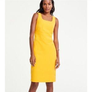 NWT Ann Taylor Yellow Goldenrod Shift Dress